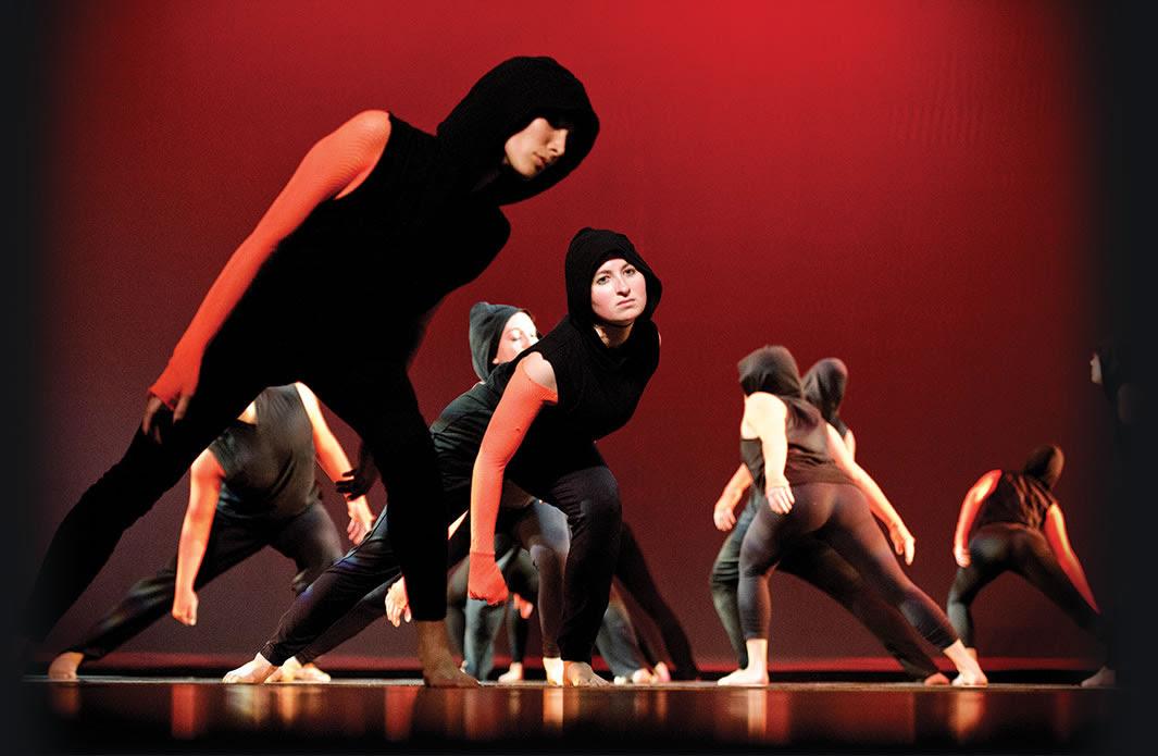 Hamilton dancers perform a piece by Kirstin Howard.