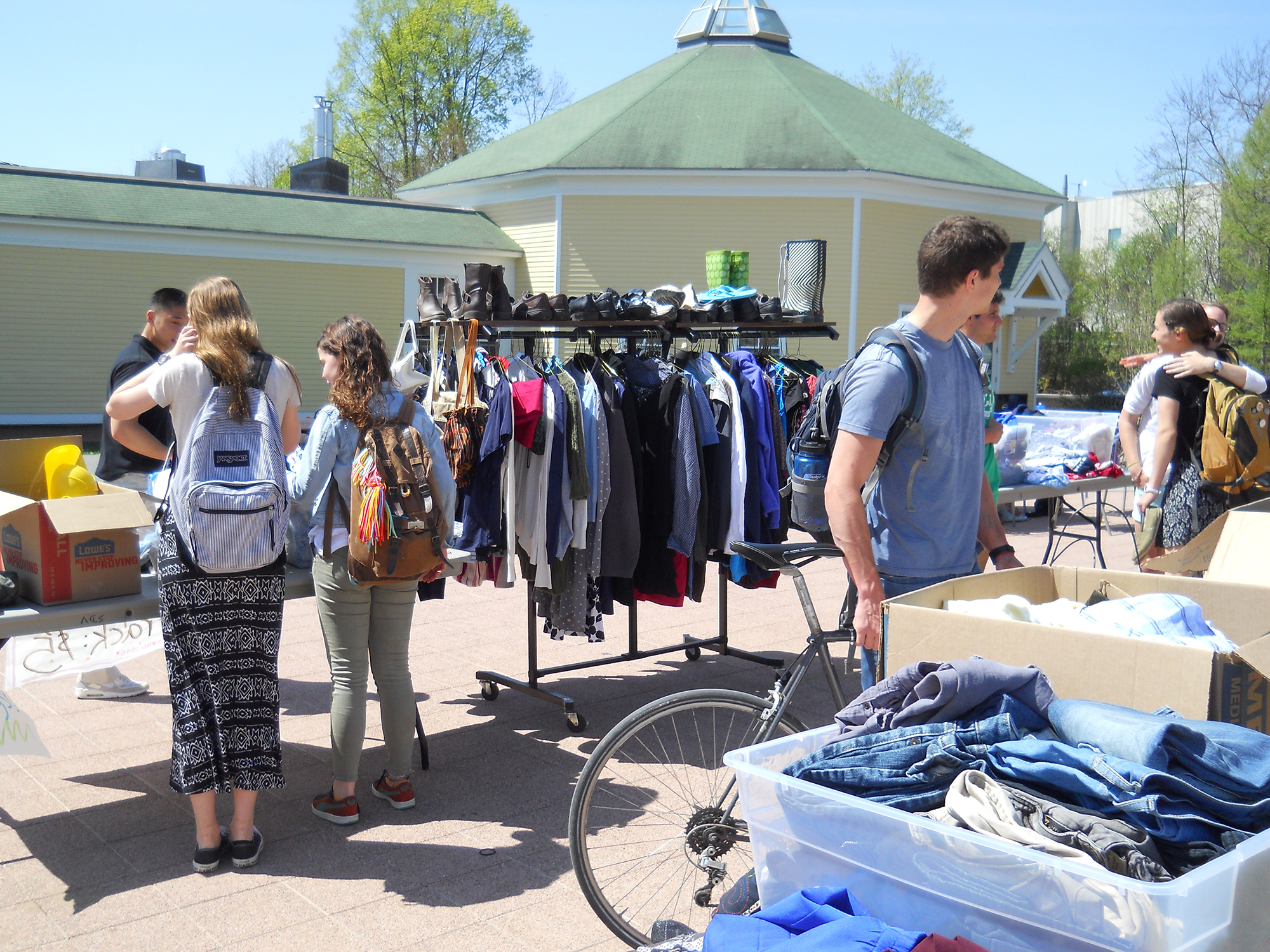In four hours the Thrift Shop took in more than $300 for Nepal earthquake relief.