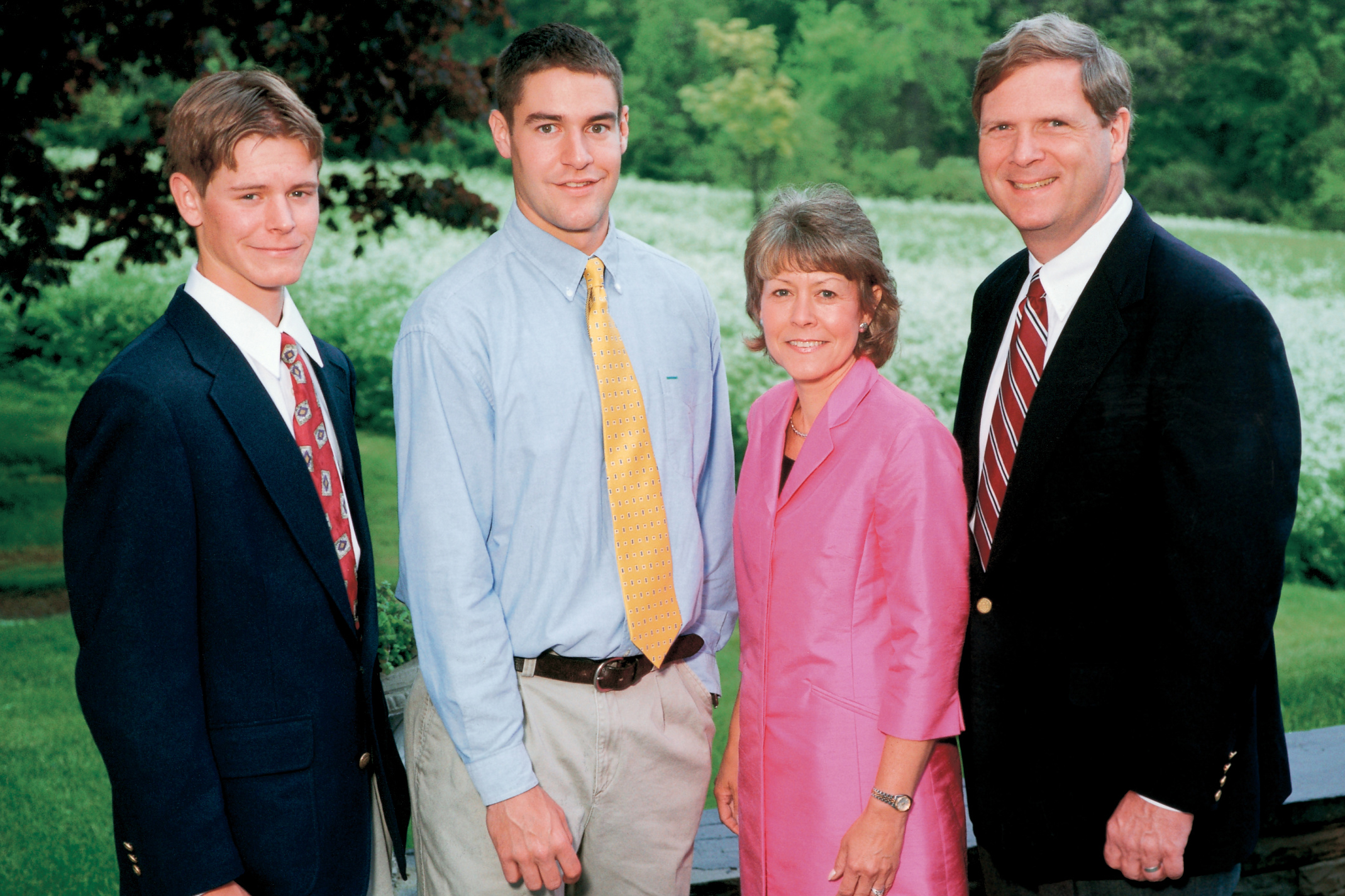 Tom and Christie Vilsack with sons Doug (left) and Jess during Hamilton's Commencement Weekend in May.