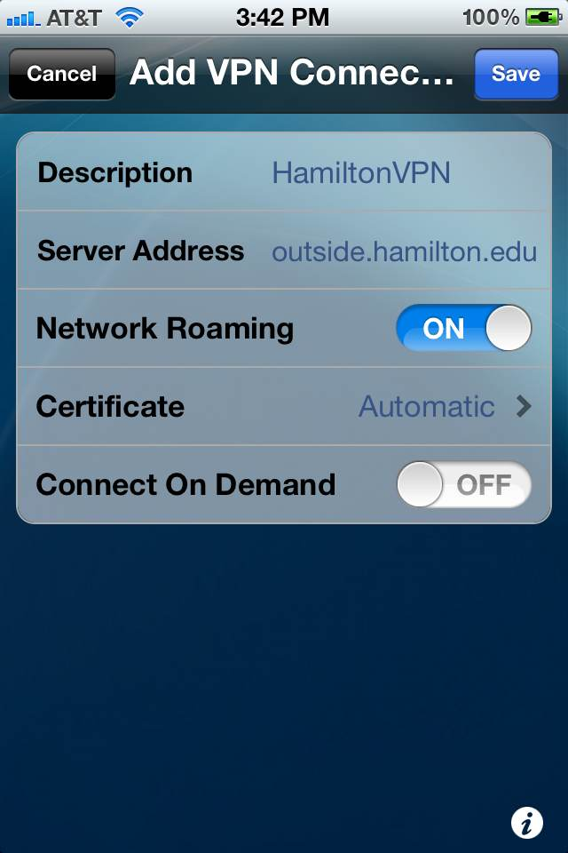 Resource Center - Installing a VPN Client on IOS Devices