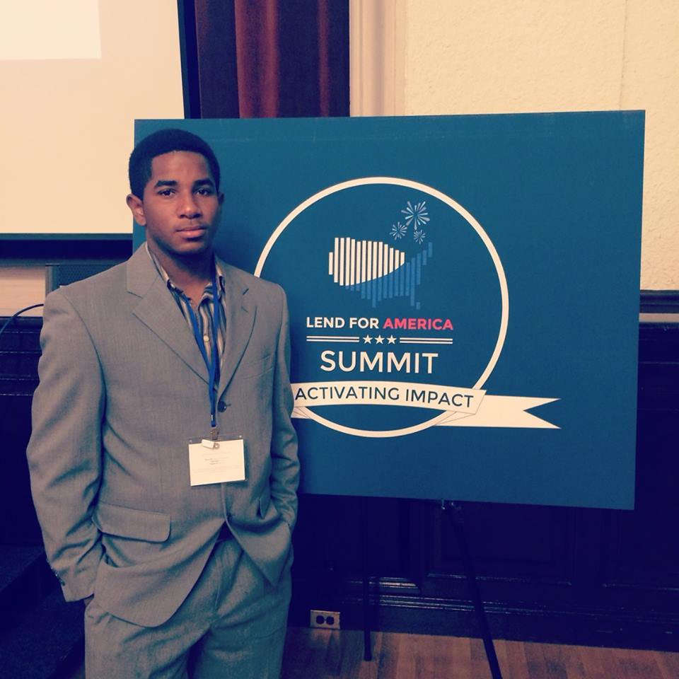 Arthur Williams '16 at the Lend for America Summit in Berkeley, Calif., in Nov. 2014. It's the leading summit for student-led microfinance organizations.