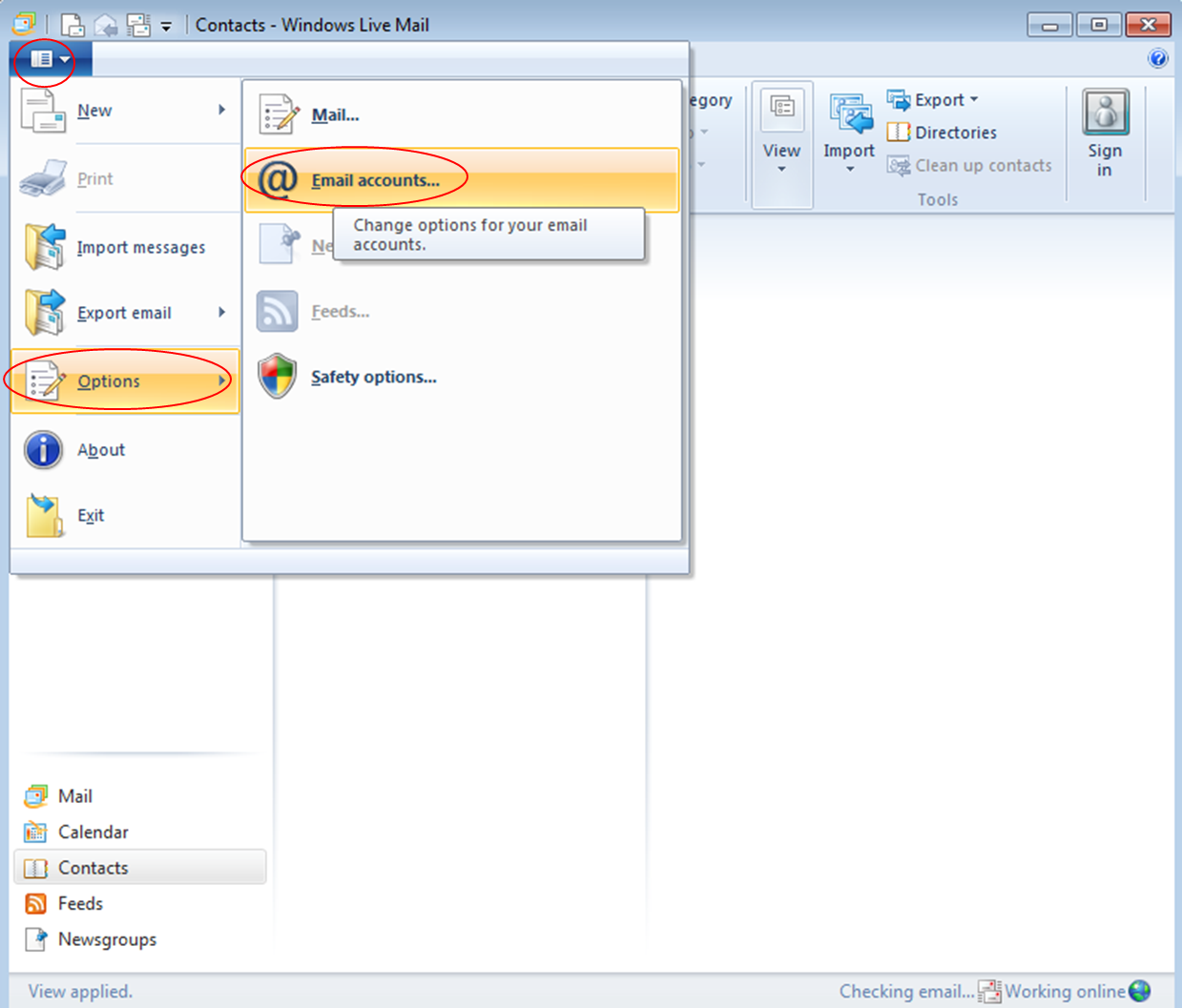 how to change windows live mail from pop3 to imap