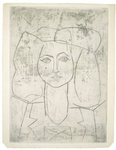 Portrait of Françoise, dressed in a suit  Pablo Picasso, Spanish, 1881-1973 1946, Drypoint Museum purchase with funds provided by the Museum Collectors, 96.853