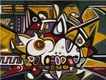 Barry's interest in Abstract Expressionism extended to Richard Pousette-Dart. This acquired work became a part of the genre of art Barry appears to be most interested in collecting for the MFAH.