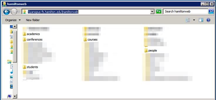 Resource Center - Understanding Hamilton's Web Space