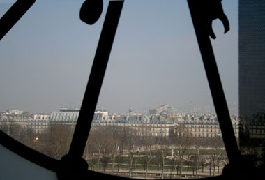 View from the Musee d'Orsay clock