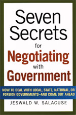 Seven Secret for Negotiating with Goverment
